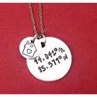 Coordinates House Necklace