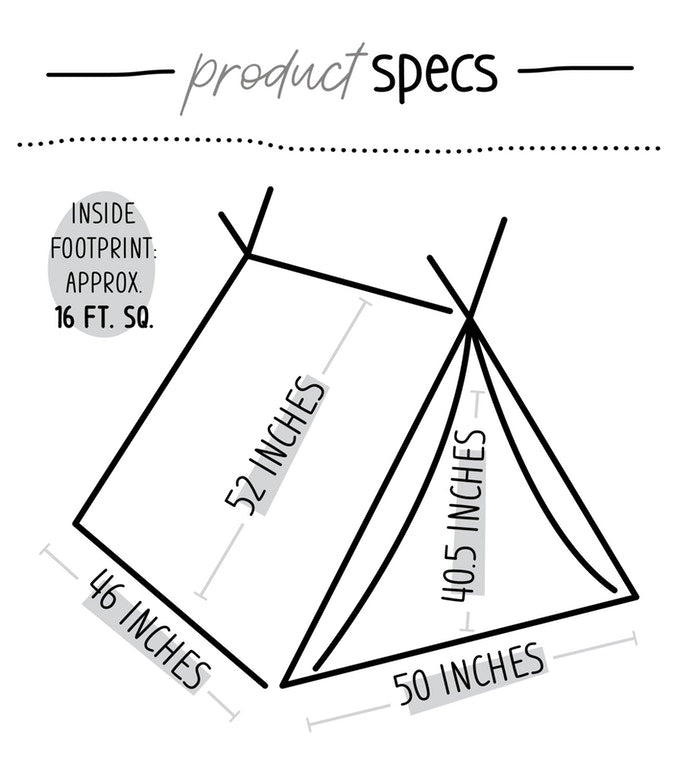 All Natural Tnee's A-frame Tent, Tent - Tnee's