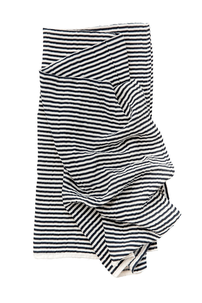 BLACK AND WHITE STRIPE SWADDLE - Tnee's