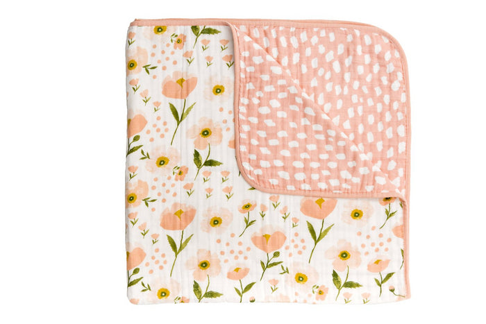 BLUSH BLOOM REVERSIBLE QUILT, Quilt - Tnee's