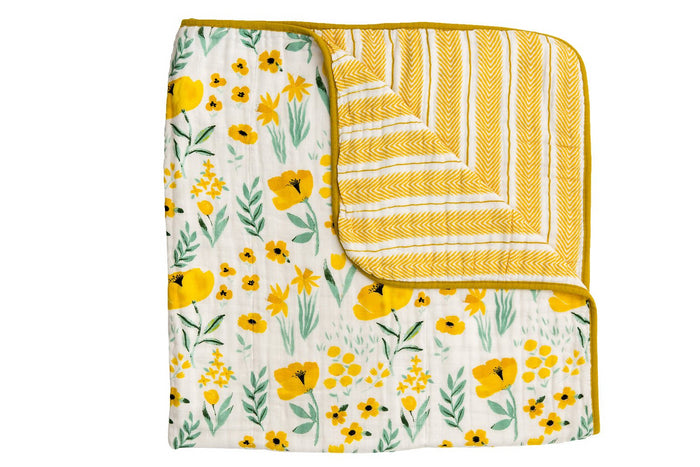 BUTTERCUP BLOSSOM REVERSIBLE QUILT, Quilt - Tnee's
