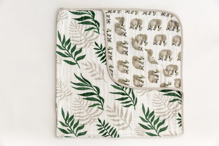 JUNGLE FERN REVERSIBLE QUILT - Tnee's