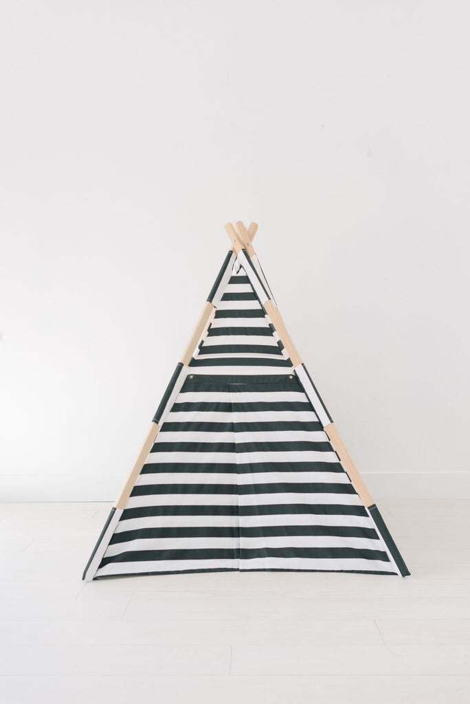 Classic Black and White Striped Tnee's Tpee, teepee - Tnee's
