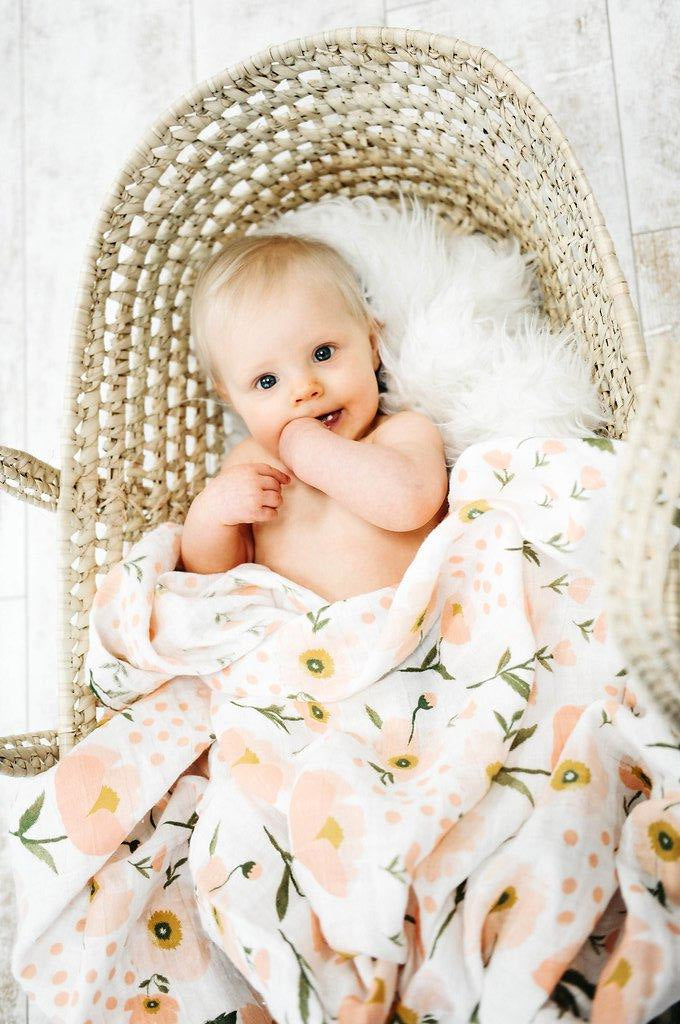 BLUSH BLOOM SWADDLE, swaddle - Tnee's