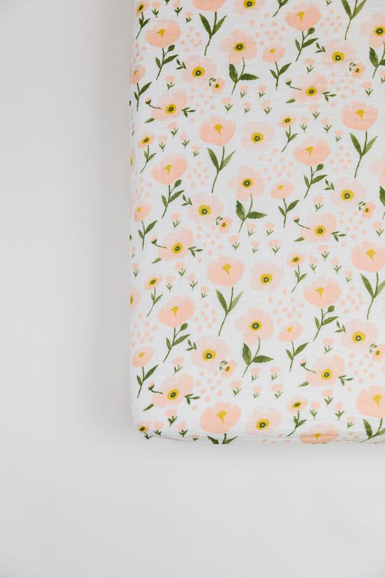 Blush Bloom Crib Sheet - Tnee's