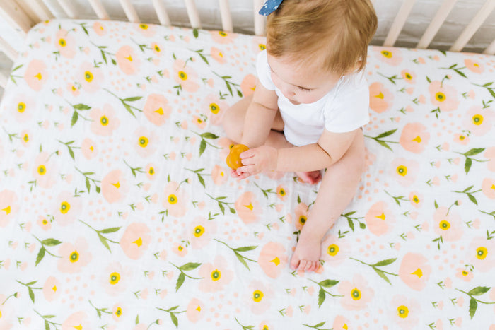 Blush Bloom Crib Sheet