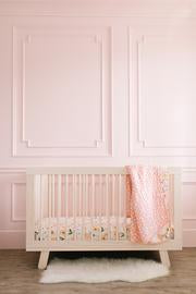 Blush Bloom Crib Sheet, crib sheet - Tnee's