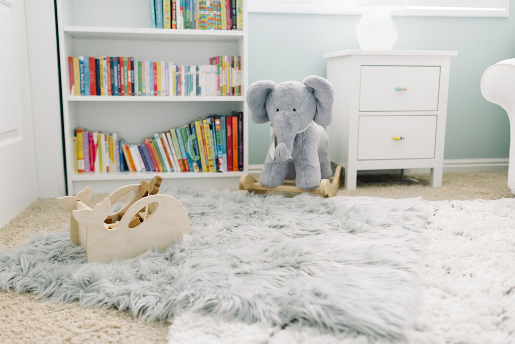 Faux Fur Rug - Stone Grey (SOLD OUT), rug - Tnee's
