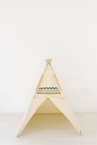 Natural multicolored chevron teepee