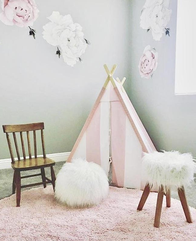 Pink/White Striped Tnee's A-frame Tent - Tnee's