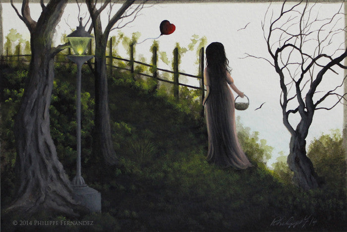 """My Heart Must Go On"" Original Miniature Painting by Artist Philippe Fernandez."