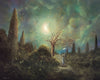 """Found Happiness"" Framed 20"" x 16"" Original Acrylic Painting By Fairy Tale Fantasy Landscape Artist Philippe Fernandez."