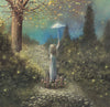 """Found Happiness"" Framed 20"" x 16"" Original Acrylic Painting By Fairy Tale Fantasy Landscape Artist Philippe Fernandez 2"