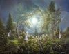 """Hide And Seek"" Framed 20"" x 16"" Original Acrylic Painting By Fairy Tale Fantasy Landscape Artist Philippe Fernandez."