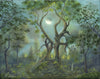 """Keepers of the Tree"" 5.5"" x 7"" Original Landscape Painting By Philippe A. Fernandez."