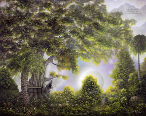 "(SOLD) ""Left Behind"" Framed 20"" x 16"" Original Landscape Painting By Philippe A. Fernandez."
