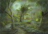 "(SOLD) ""Sacred Trails"" Original Miniature Landscape Painting By Philippe A. Fernandez."