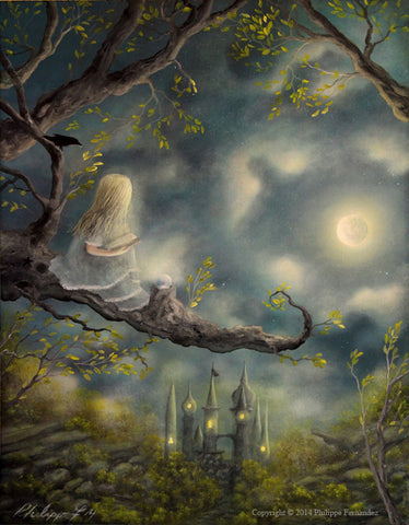 """Spellbound"" Limited Edition Print (18) By Fairy Tale Fantasy Landscape Artist Philippe Fernandez."