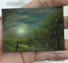 """Summer Nights"" Original Miniature Landscape Painting By Philippe A. Fernandez."