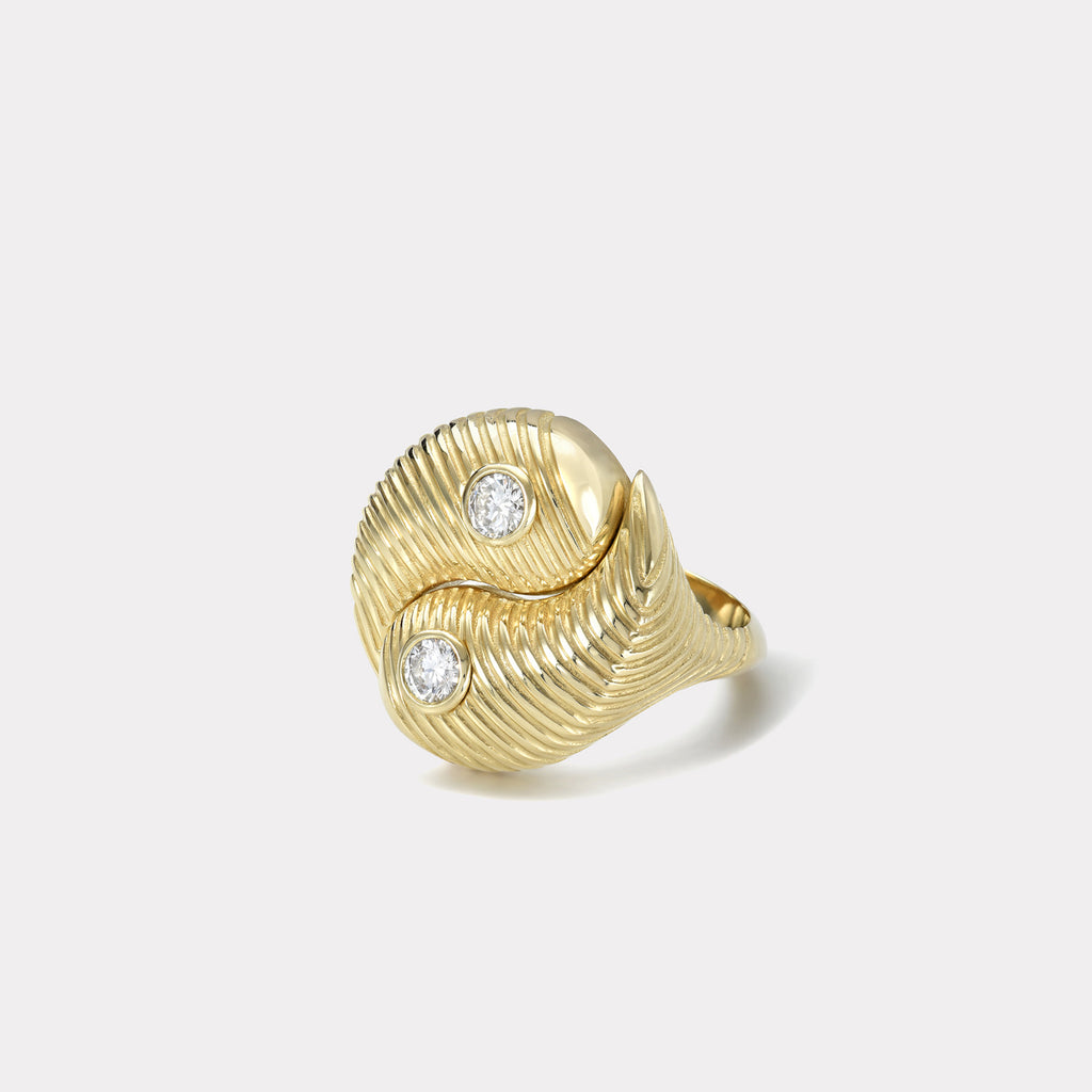 All Gold Yin Yang Ring