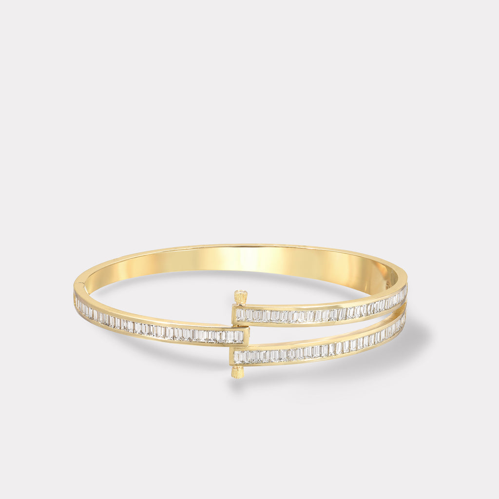 Magna Bracelet with White Baguette Cut Diamonds