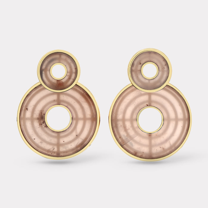 Swivel Earrings - Guava Quartz