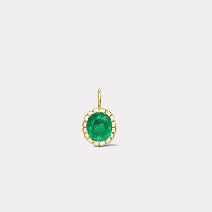 One of a Kind Heirloom Bezel 4.02ct Oval Emerald