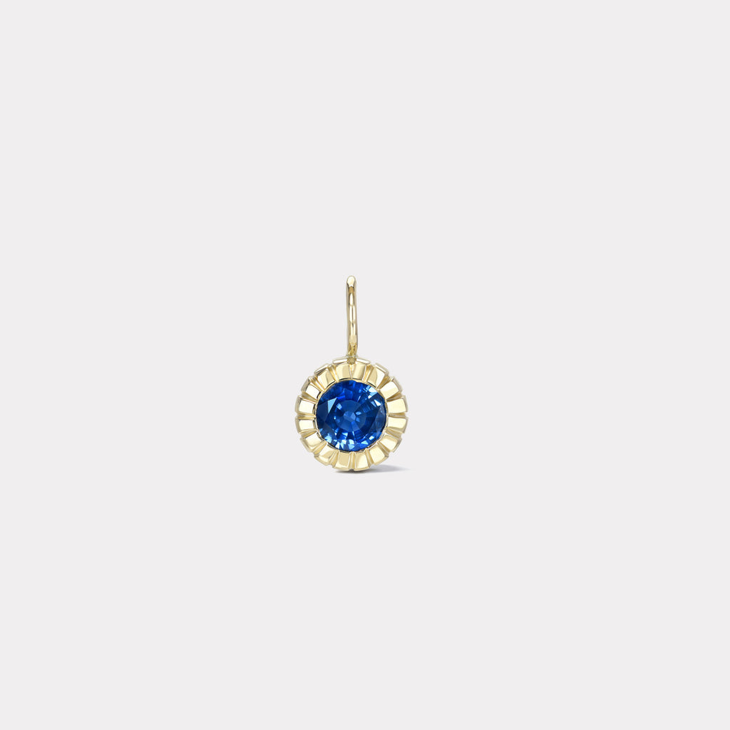 One of a Kind Heirloom 1.6ct Bezel Round Sapphire