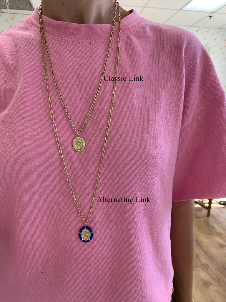 Handmade Alternating Link Chain