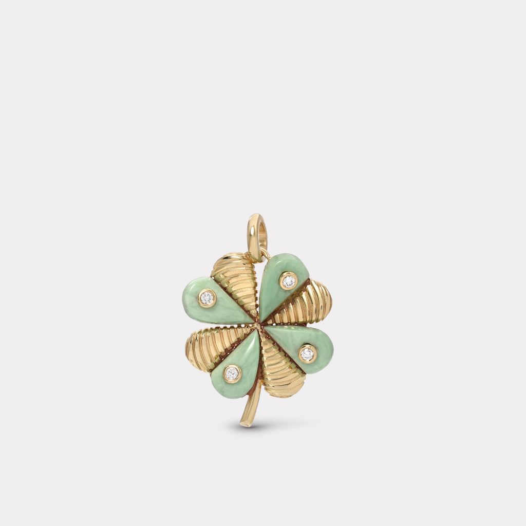 Talisman Clover Charm - Green Turquoise