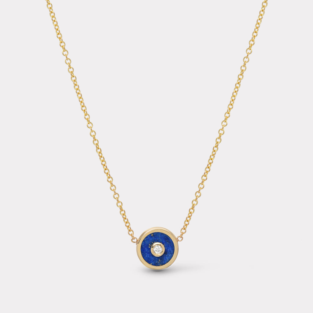 Mini Compass Pendant - Lapis