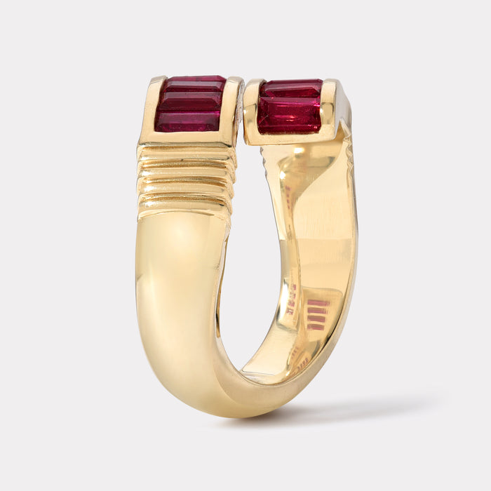 Ruby Baguette Wrap Ring