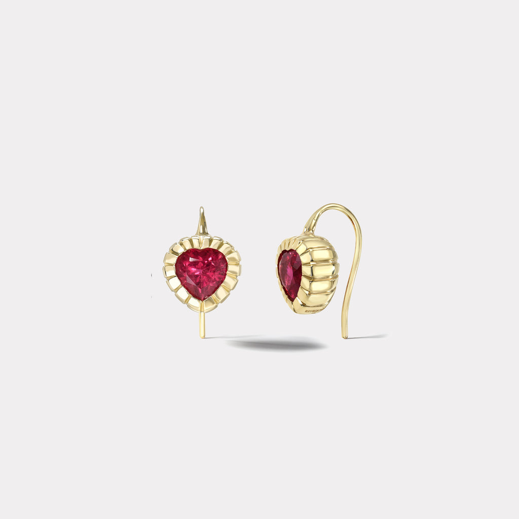 2.18ct Rubellite Heirloom Bezel Earrings