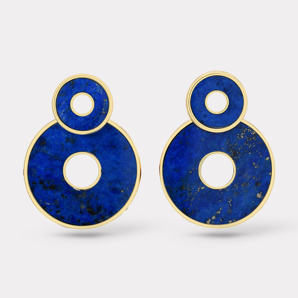 Lapis Swivel Earrings