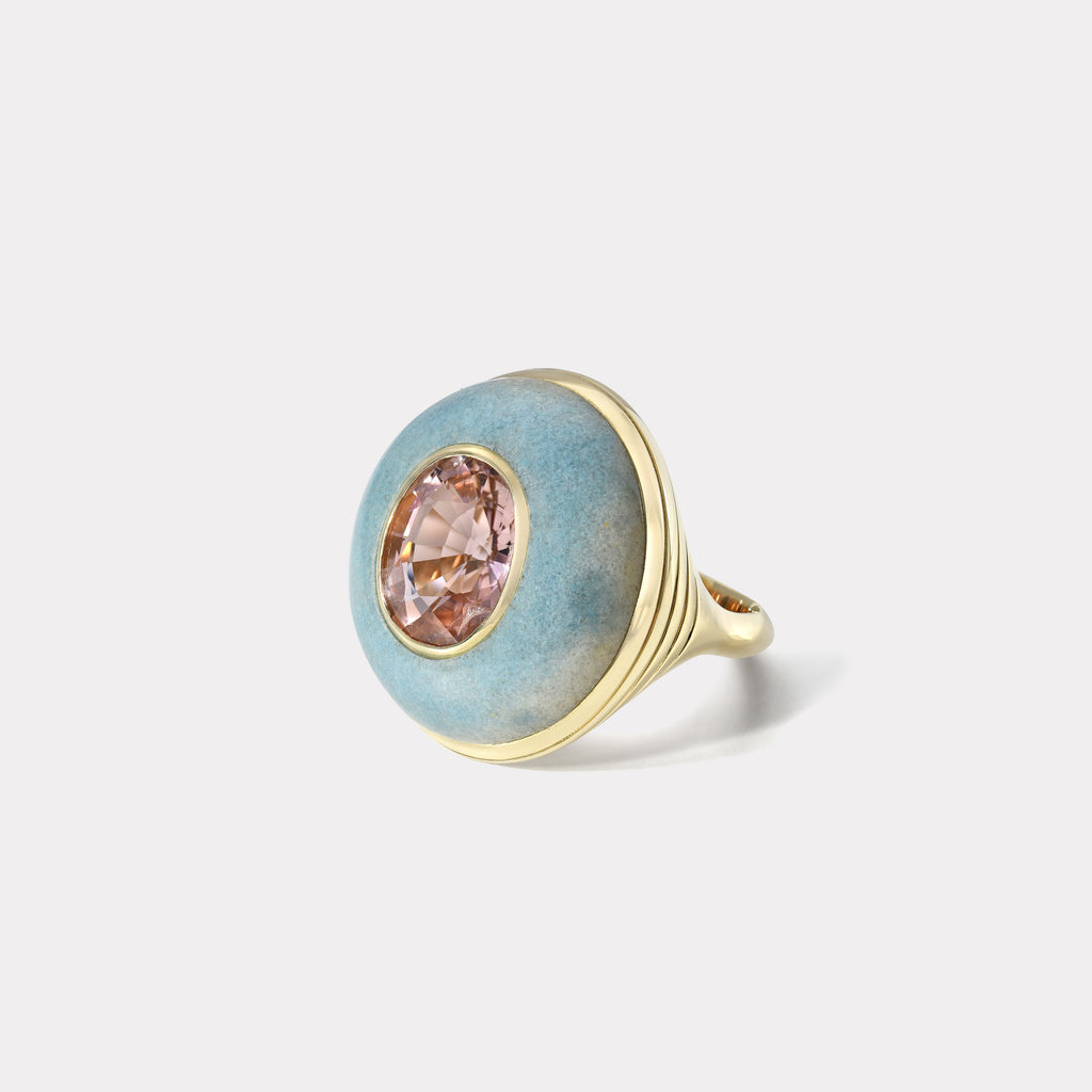 One of a Kind Lollipop Ring - Pink Tourmaline in  Trolleite
