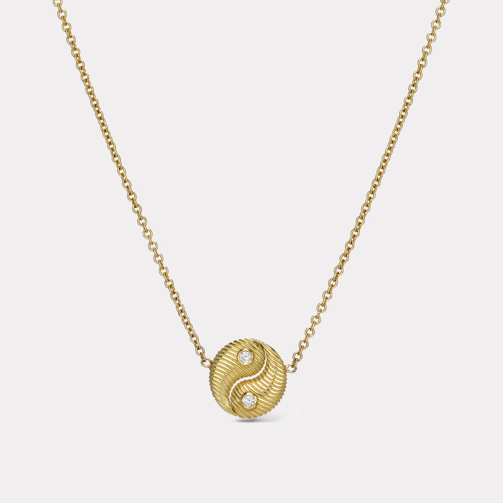 Mini All Gold Yin Yang Pendant