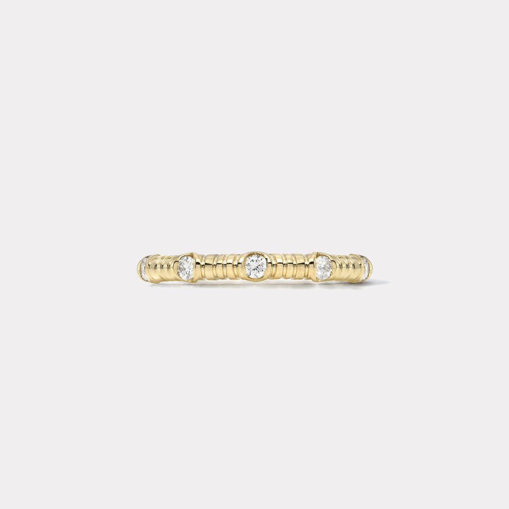 14k Modern Love Five Stone Diamond Band