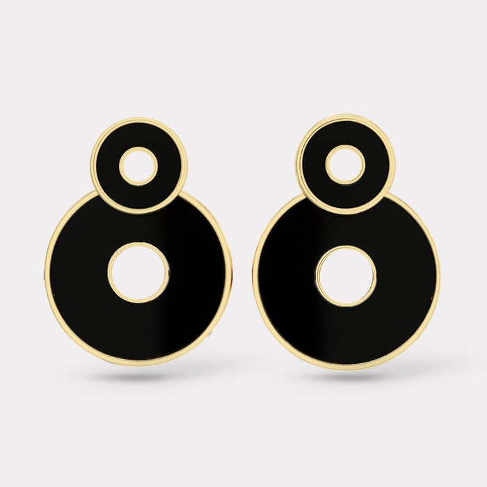 Swivel Earrings - Black Onyx