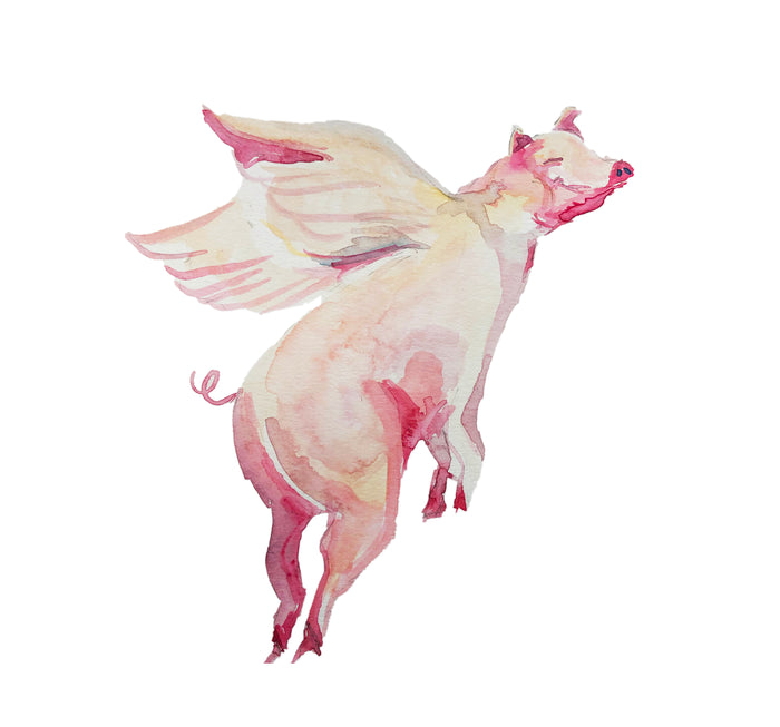 Tiered Fantasy Signet - Flying pig