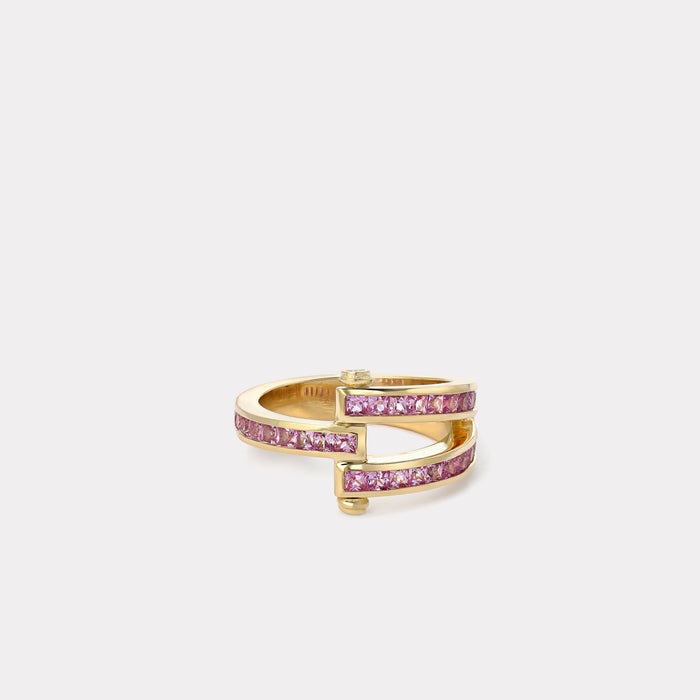 Magna Ring - Square cut Pink Sapphire