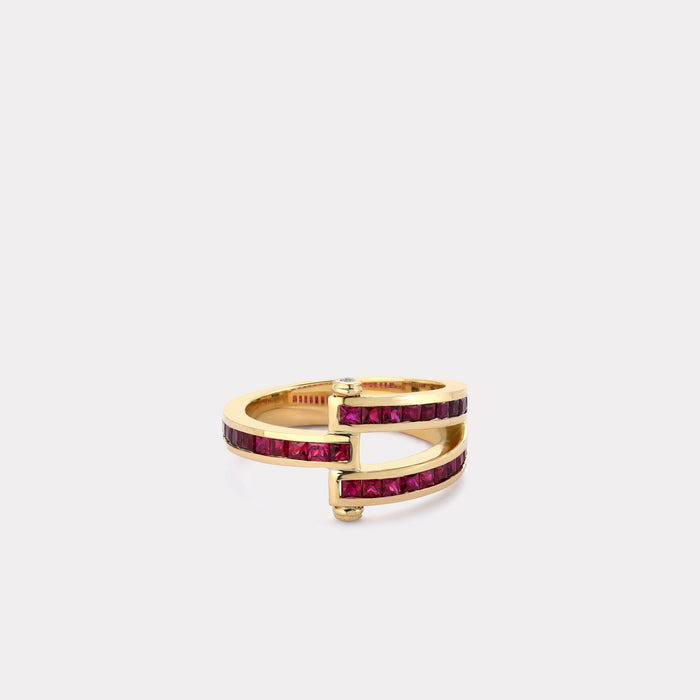 Magna Ring - Square Cut Ruby