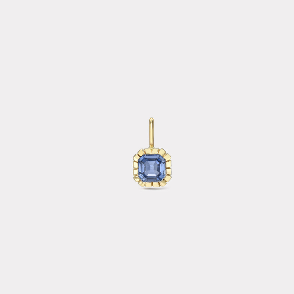 One of a Kind Heirloom Bezel Blue Sapphire Charm