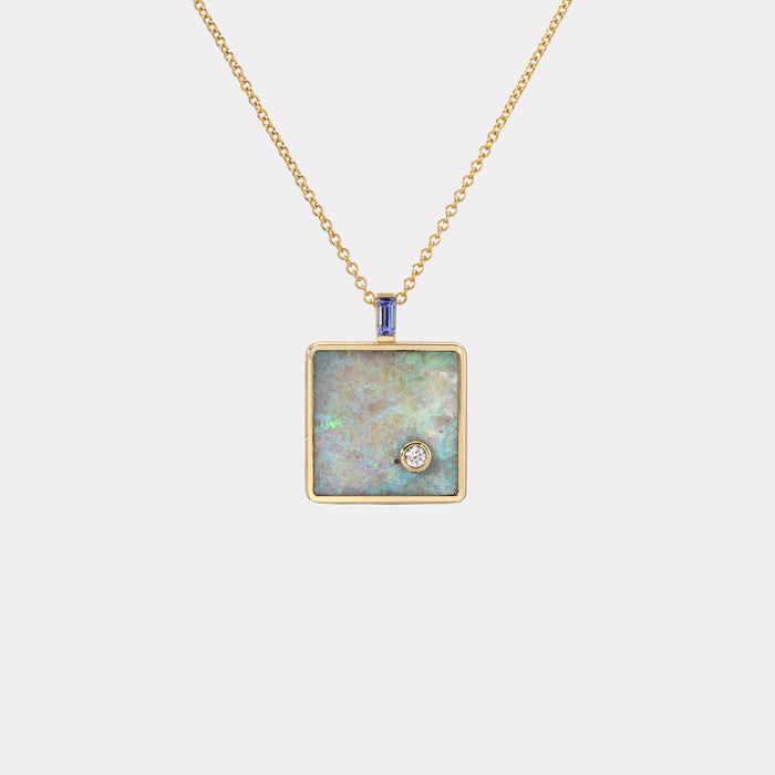 Small Truth Pendant with Australian Opal and Tanzanite