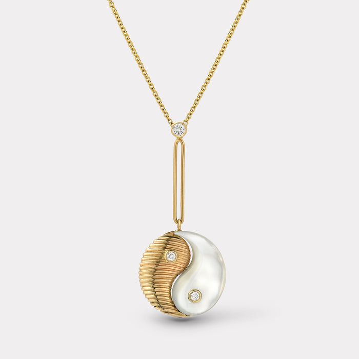 Yin Yang Pendant - White Mother of Pearl