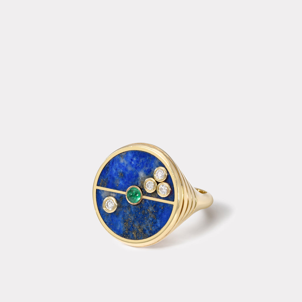 Compass Ring - Lapis/ Emerald
