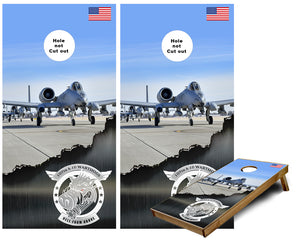 107th A-10 Wart hogs Tank killers Cornhole Wraps