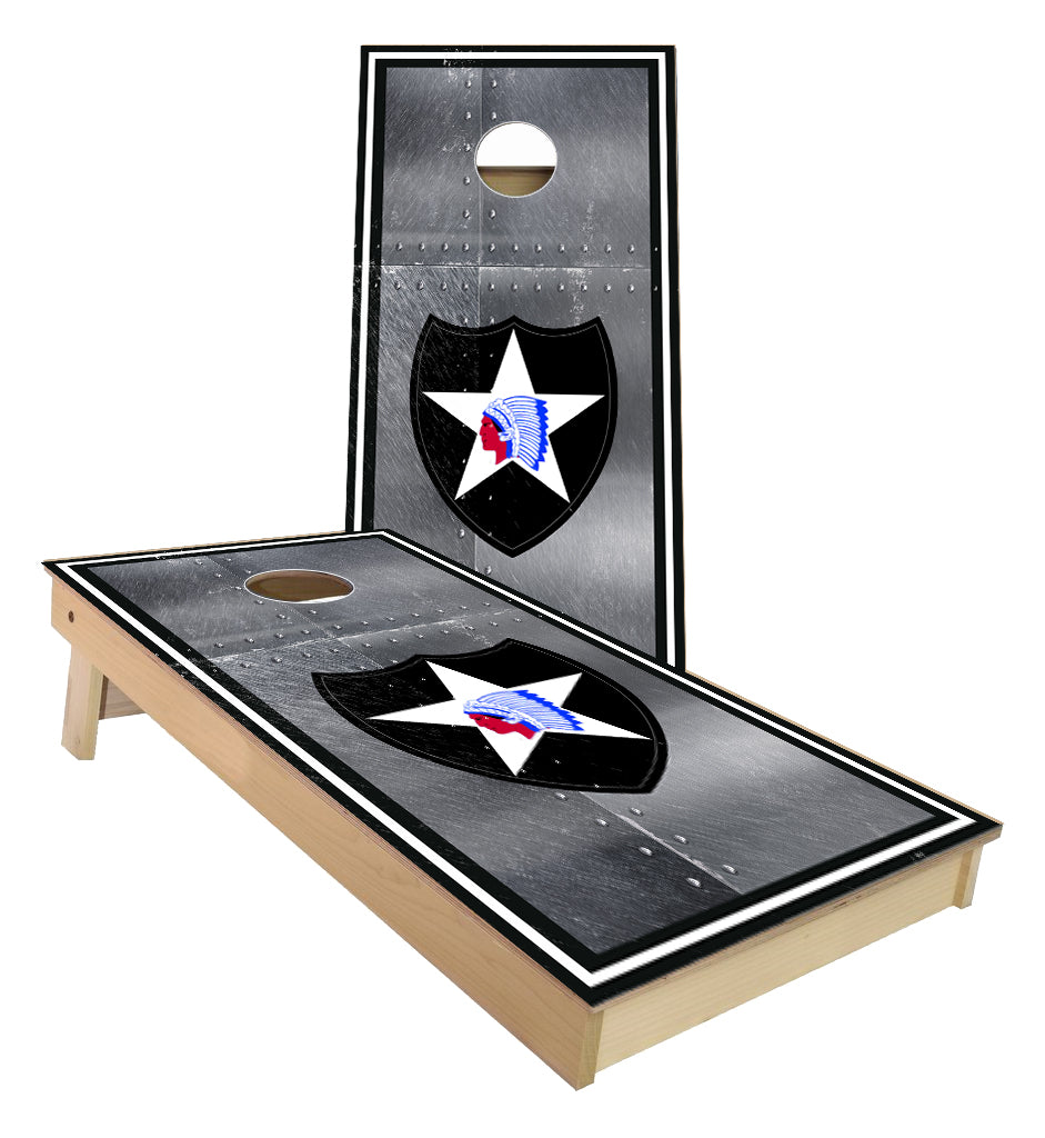 2nd Infantry Army Division Cornhole Boards