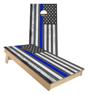 Support your Police Thin blue Line US FLAG Cornhole Boards