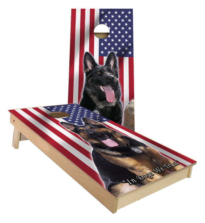 K-9 Unit In Dogs we Trust Police Canine unit cornhole Boards