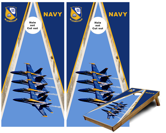 Blue Angels F-18 Navy Demonstration team Cornhole Wraps